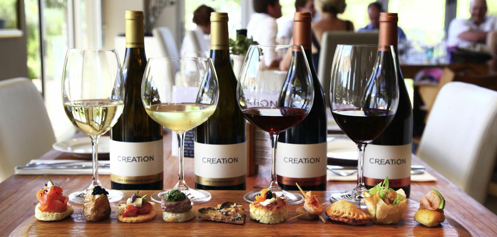 クリエーションワインズのワインと料理